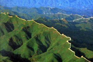 la gran muralla china desde el espacio