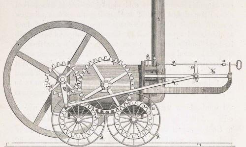 la primera locomotora de un tren