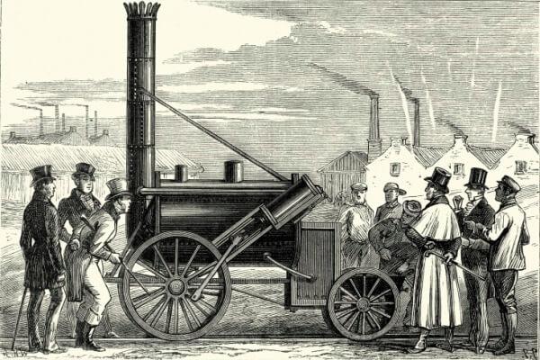 quién inventó la locomotora