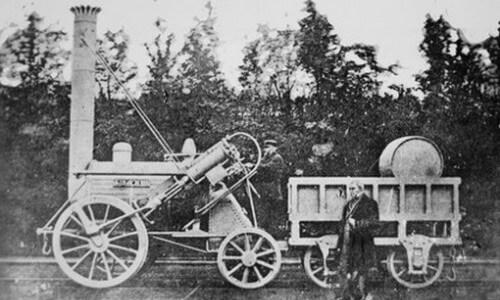 quién inventó el tren