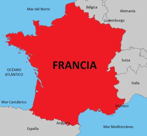 situación geográfica de Francia