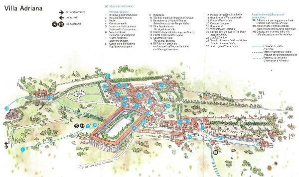 plano villa de Adriano
