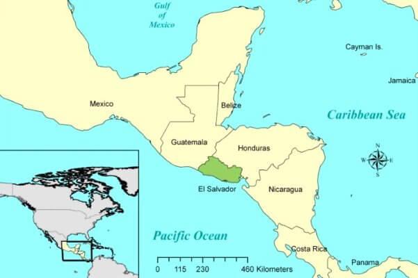 mapa histórico de El Salvador