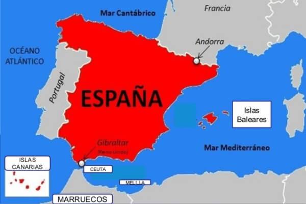 Situación geográfica de España