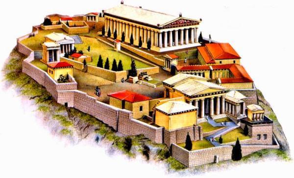 cuál es el origen de la Acrópolis de Atenas