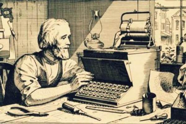 cuál es el origen de la máquina de escribir