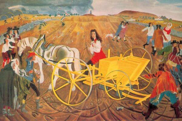 sembradora mecanización agrícola