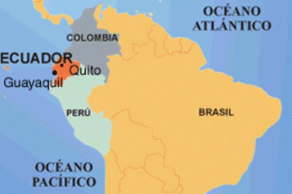 mapa histórico del Ecuador