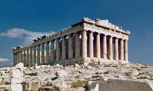 Partenón ruina antigua arqueológica