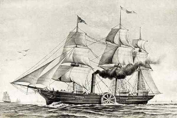 quien inventó el barco a vapor