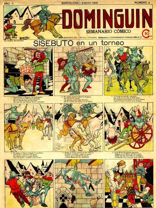 cuál es el primer cómic de España