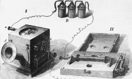 cómo era el primer teléfono