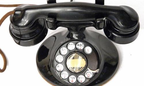 primer teléfono de disco