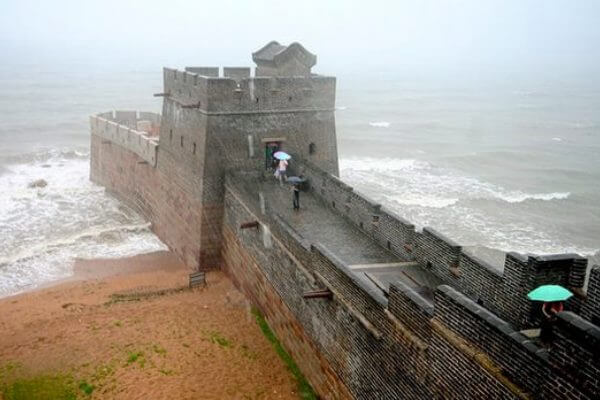dónde empieza la gran muralla china