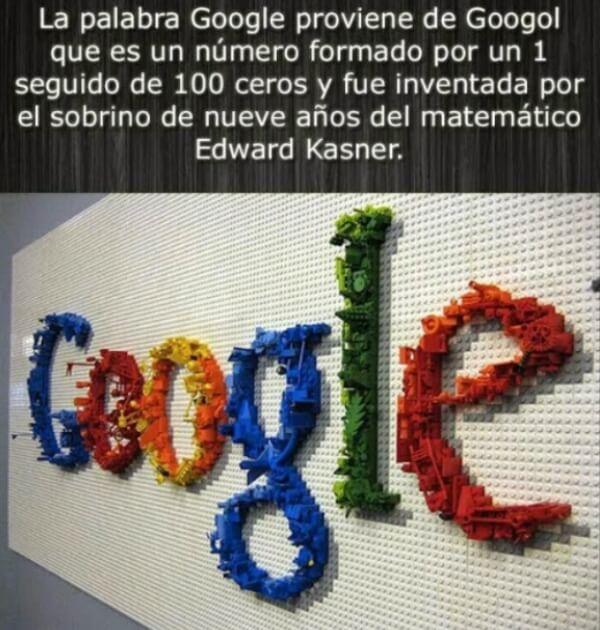 ¿Cuál es el significado de la palabra Google?