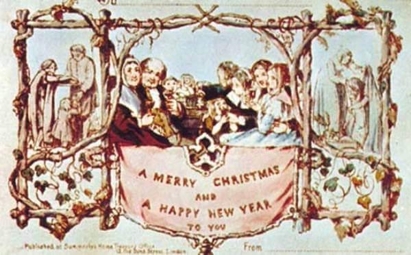 quién creó la primera tarjeta de felicitación navideña