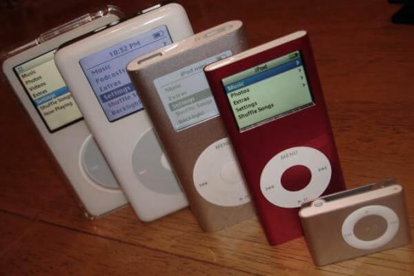 historia del iPod evolución