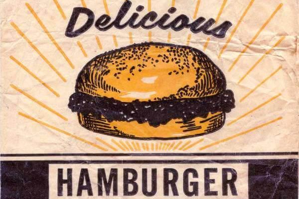 en qué año se inventó la hamburguesa