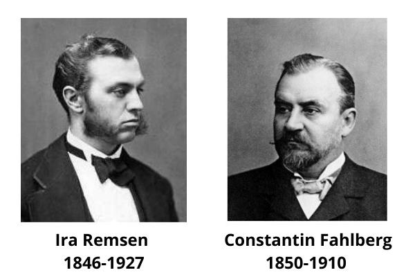 cuándo se descubrió la sacarina 1879