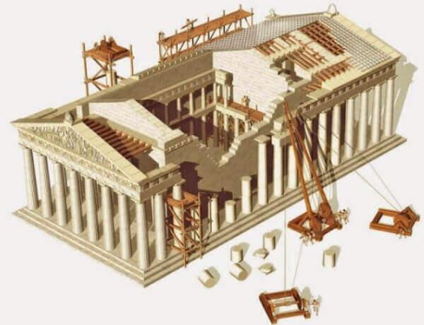 partenón Atenas reconstrucción