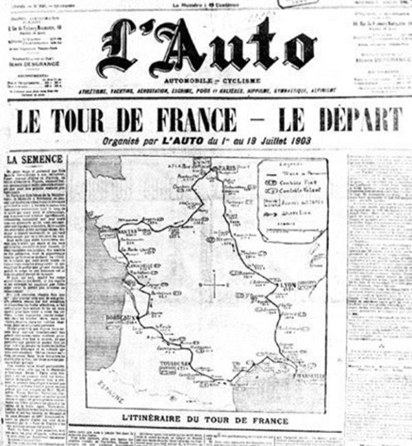 cuántas etapas tenía el primer Tour de Francia