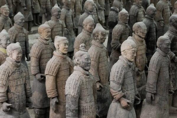 características soldados de Xian