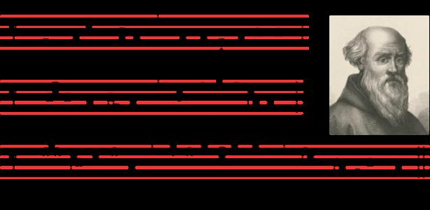 tetragrama de cuatro líneas horizontales
