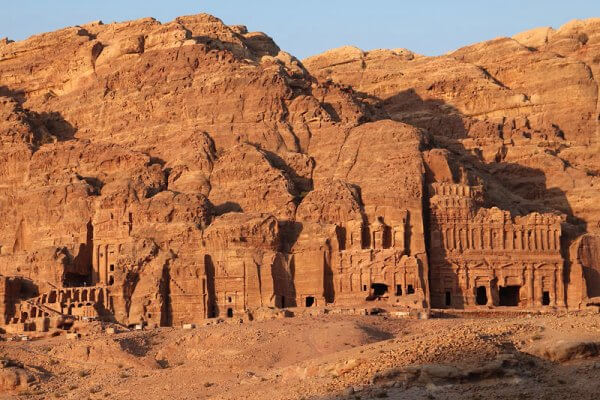 cuándo se construyeron las tumbas de Petra