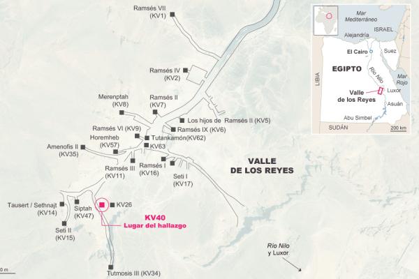 Valle de los Reyes mapa